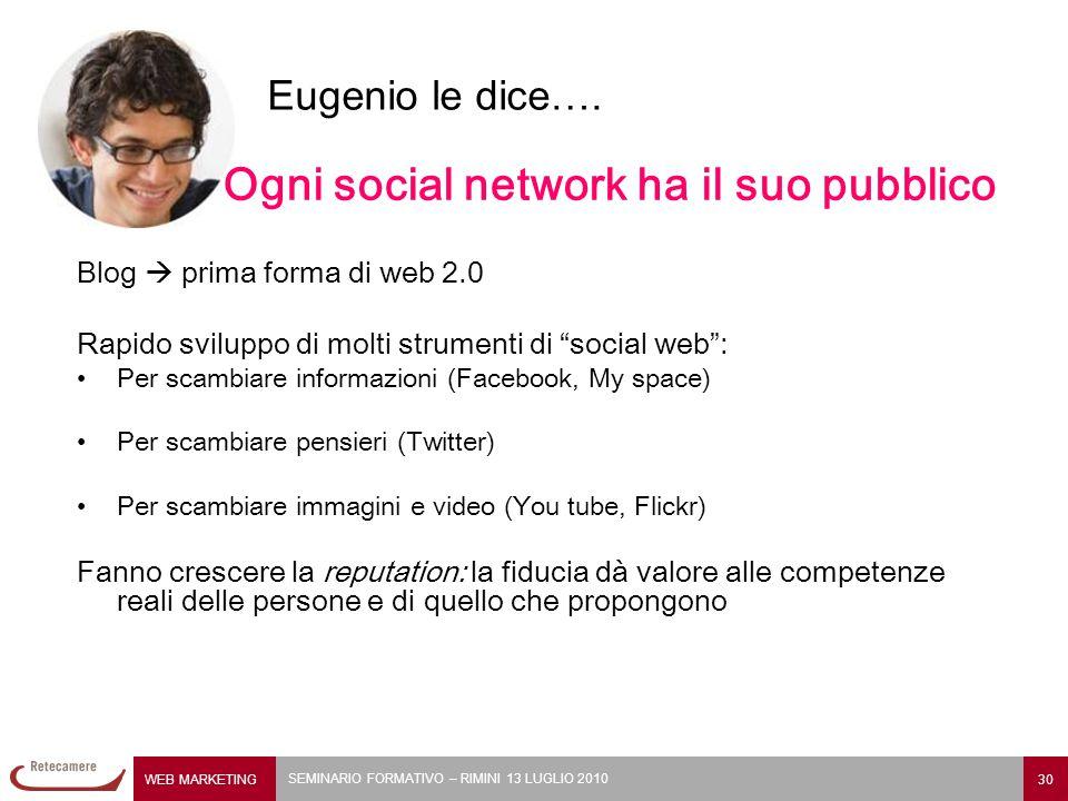 Ogni social network ha il suo pubblico
