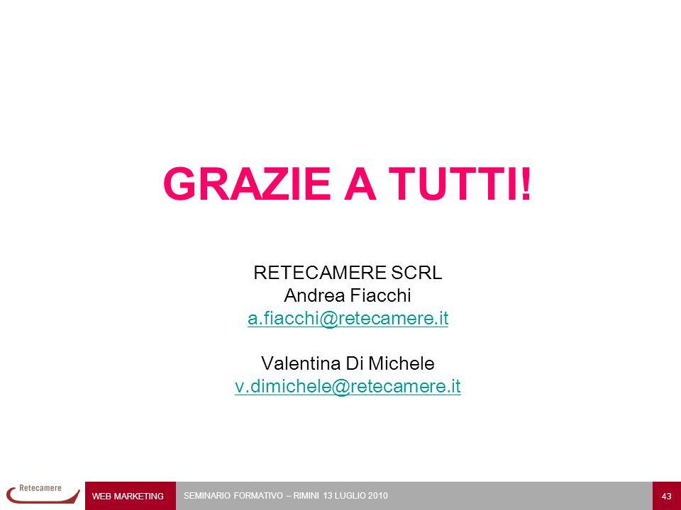 GRAZIE A TUTTI! RETECAMERE SCRL Andrea Fiacchi a.fiacchi@retecamere.it