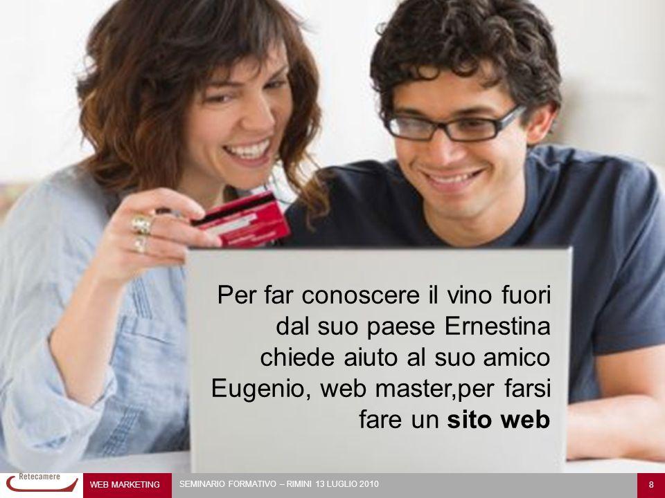 Per far conoscere il vino fuori dal suo paese Ernestina chiede aiuto al suo amico Eugenio, web master,per farsi fare un sito web