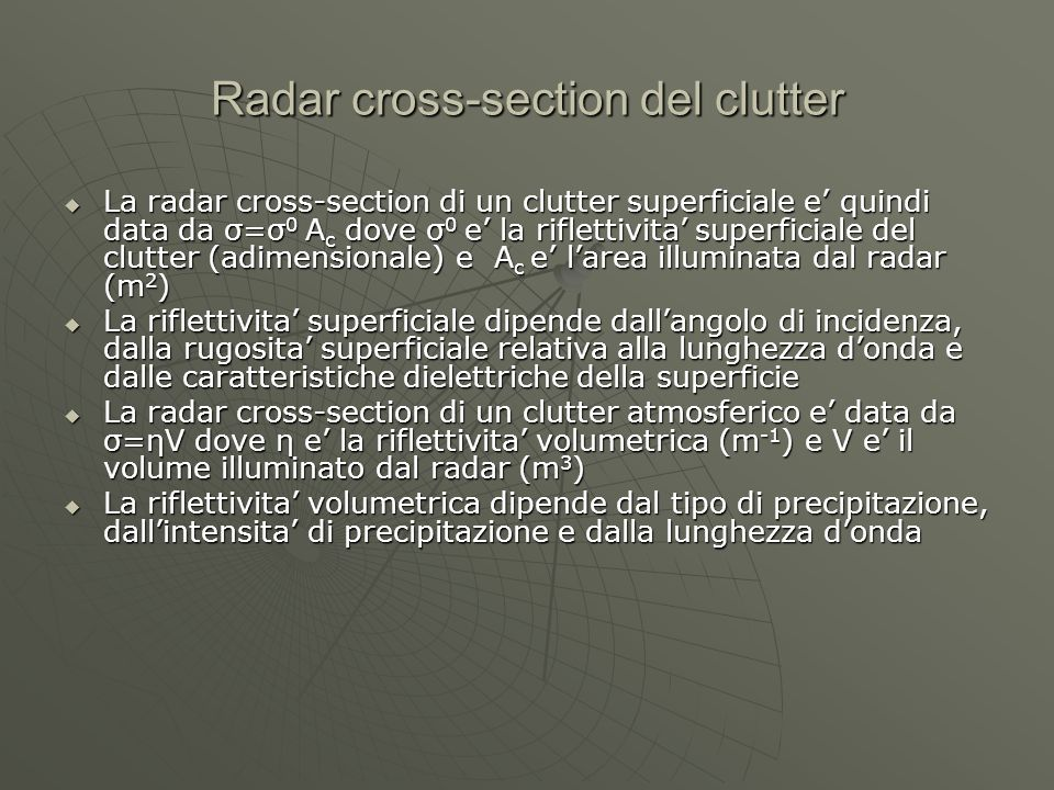Radar cross-section del clutter