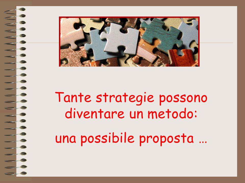 Tante strategie possono diventare un metodo: una possibile proposta …
