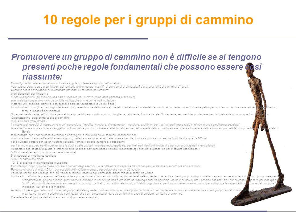 10 regole per i gruppi di cammino