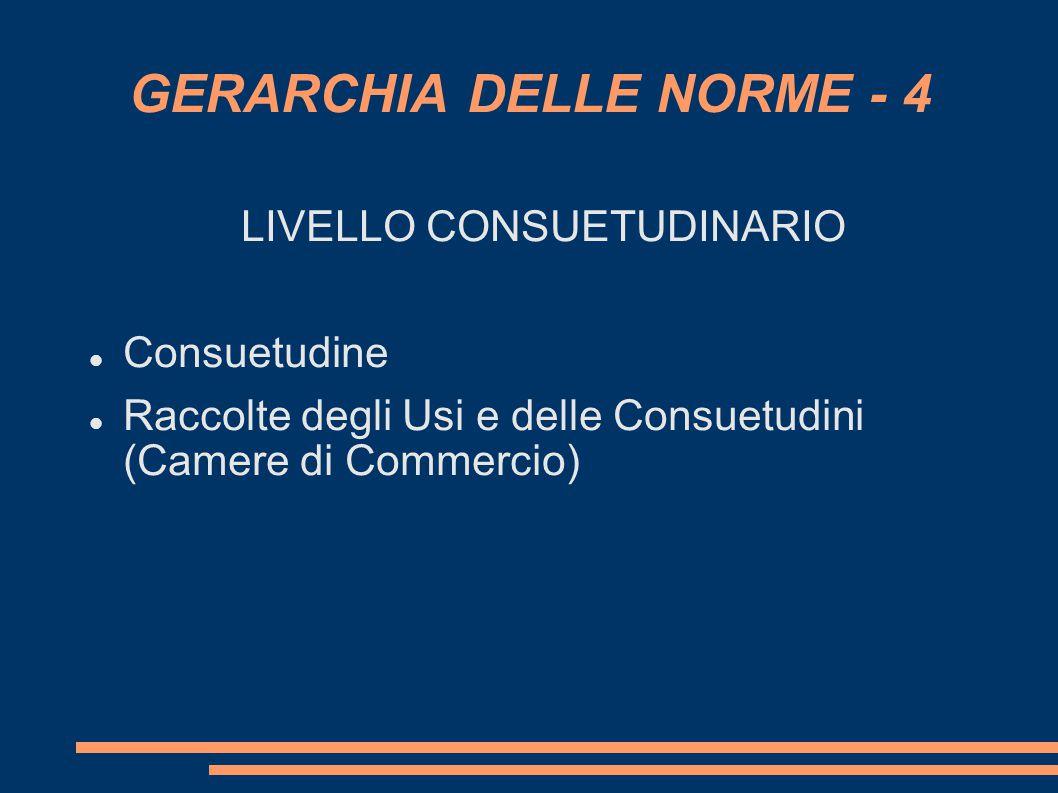 GERARCHIA DELLE NORME - 4