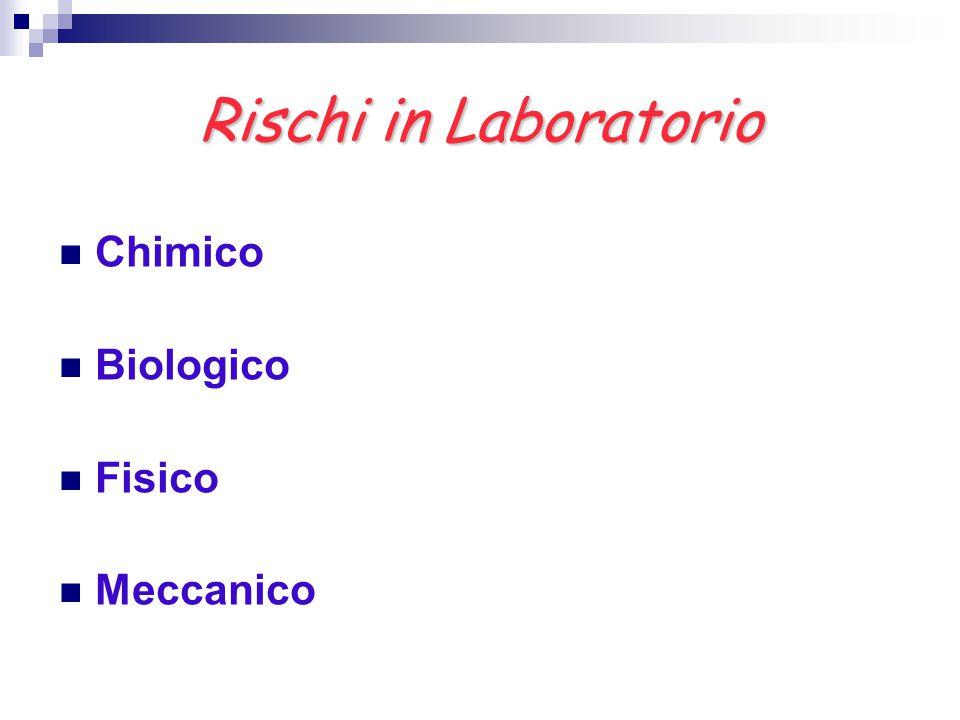 Rischi in Laboratorio Chimico Biologico Fisico Meccanico