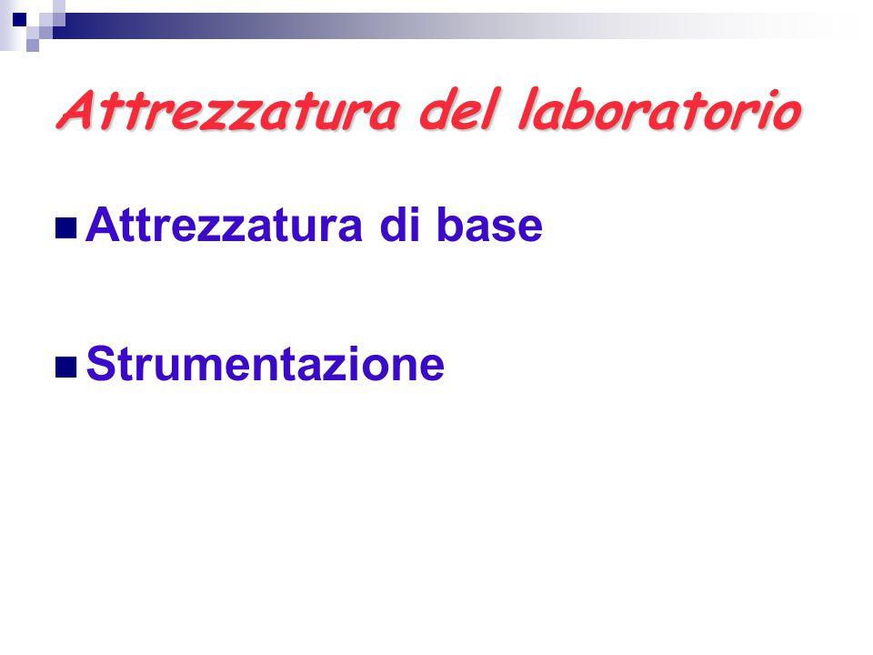 Attrezzatura del laboratorio