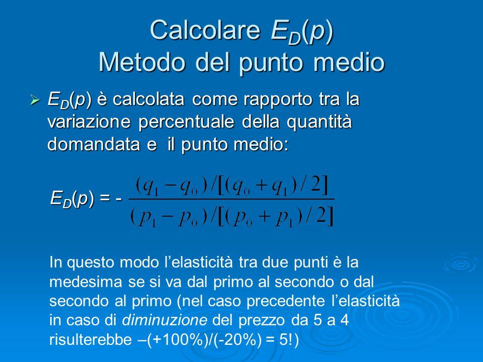Calcolare ED(p) Metodo del punto medio