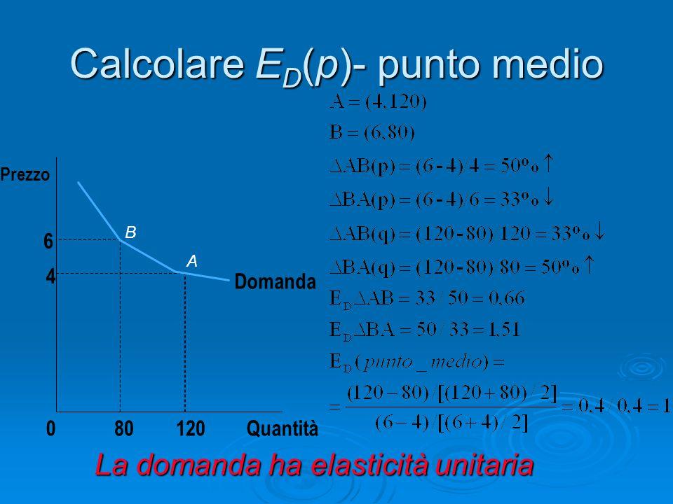Calcolare ED(p)- punto medio