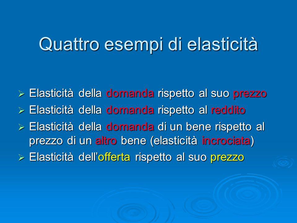 Quattro esempi di elasticità
