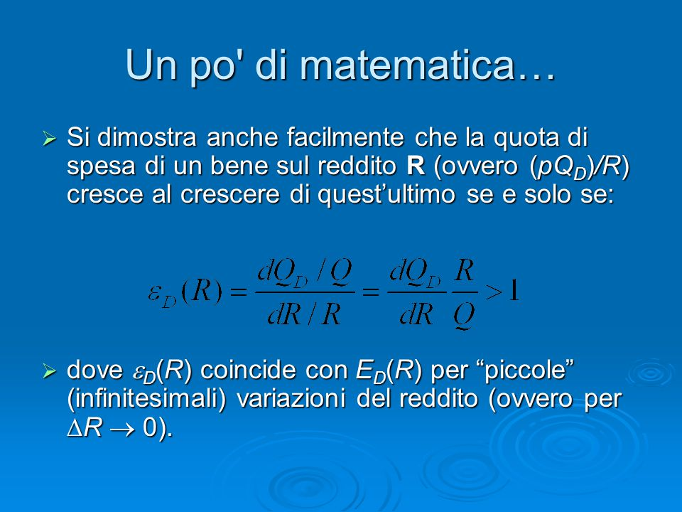 Un po di matematica…