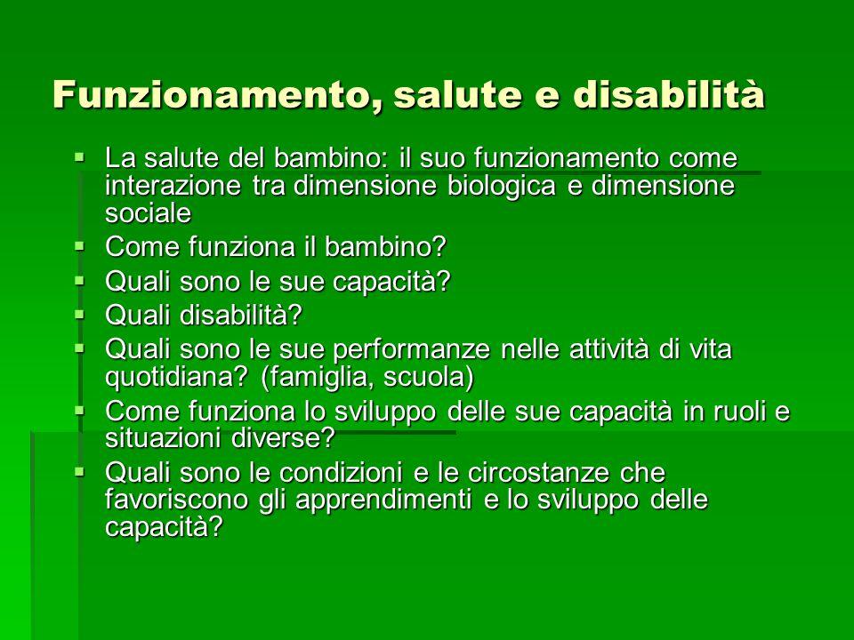 Funzionamento, salute e disabilità