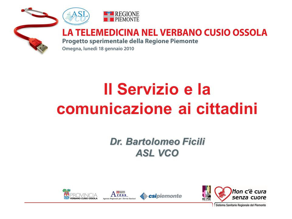 Il Servizio e la comunicazione ai cittadini