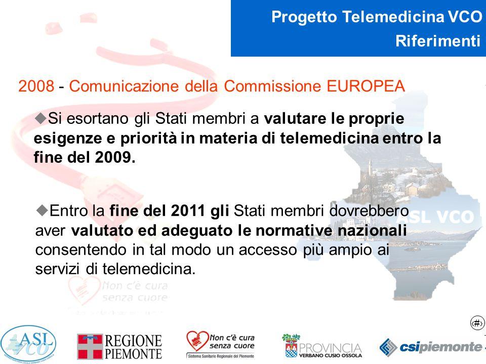 Riferimenti 2008 - Comunicazione della Commissione EUROPEA.