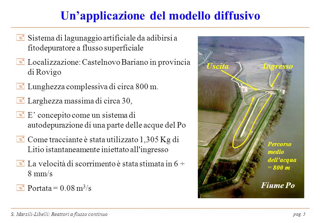 Un'applicazione del modello diffusivo