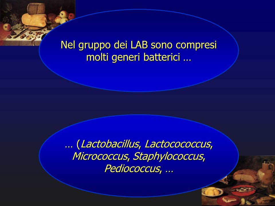 Nel gruppo dei LAB sono compresi molti generi batterici …