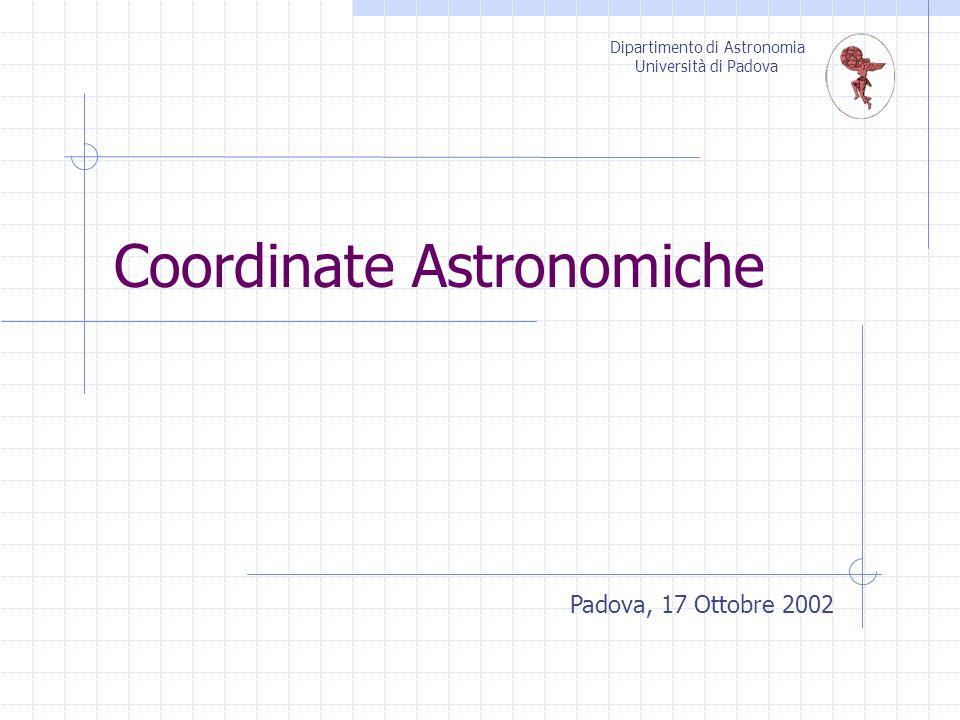 Coordinate Astronomiche