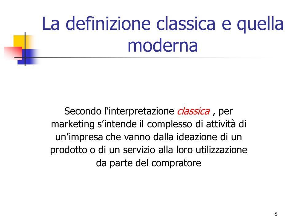 La definizione classica e quella moderna