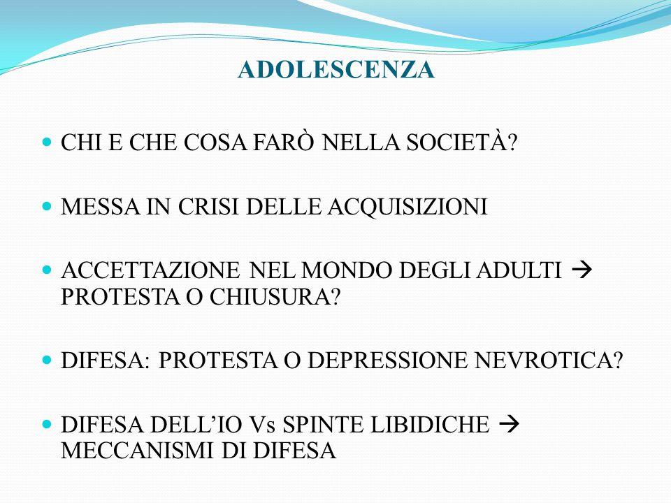 ADOLESCENZA CHI E CHE COSA FARÒ NELLA SOCIETÀ