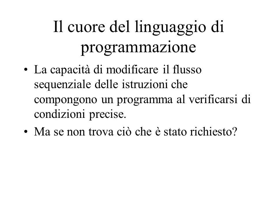 Il cuore del linguaggio di programmazione