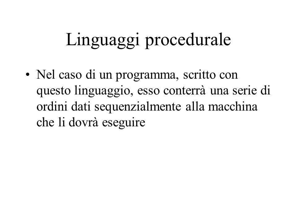 Linguaggi procedurale
