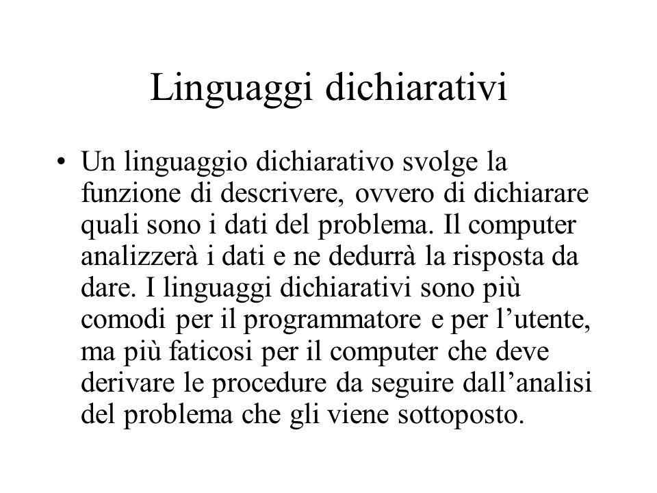 Linguaggi dichiarativi