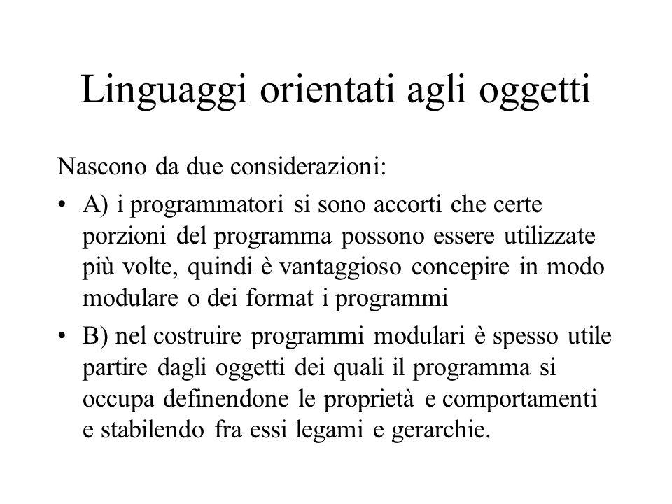 Linguaggi orientati agli oggetti