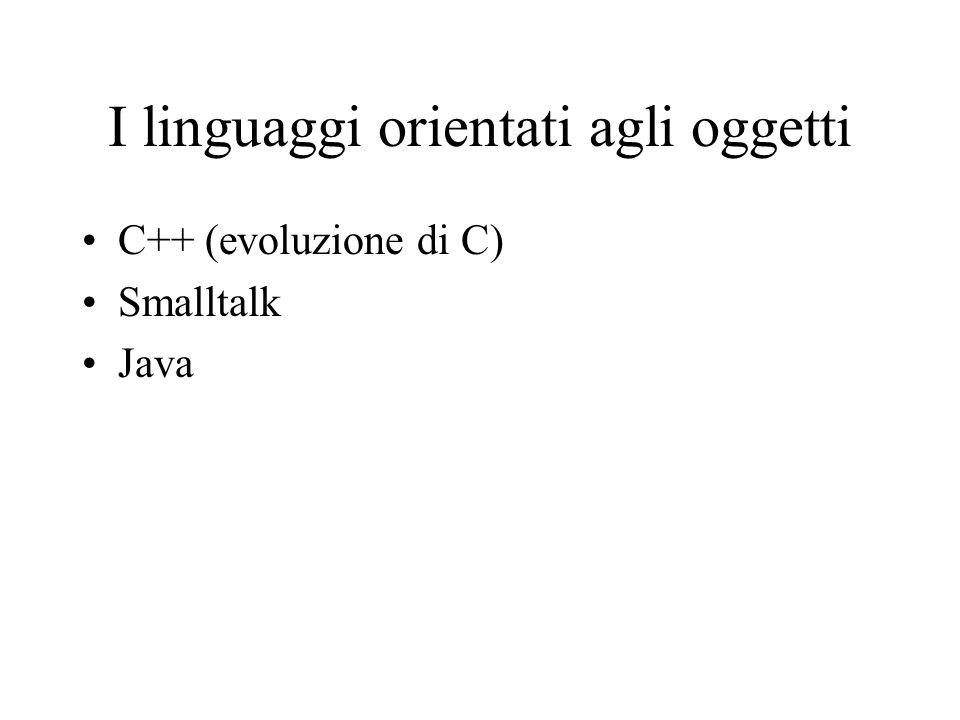 I linguaggi orientati agli oggetti