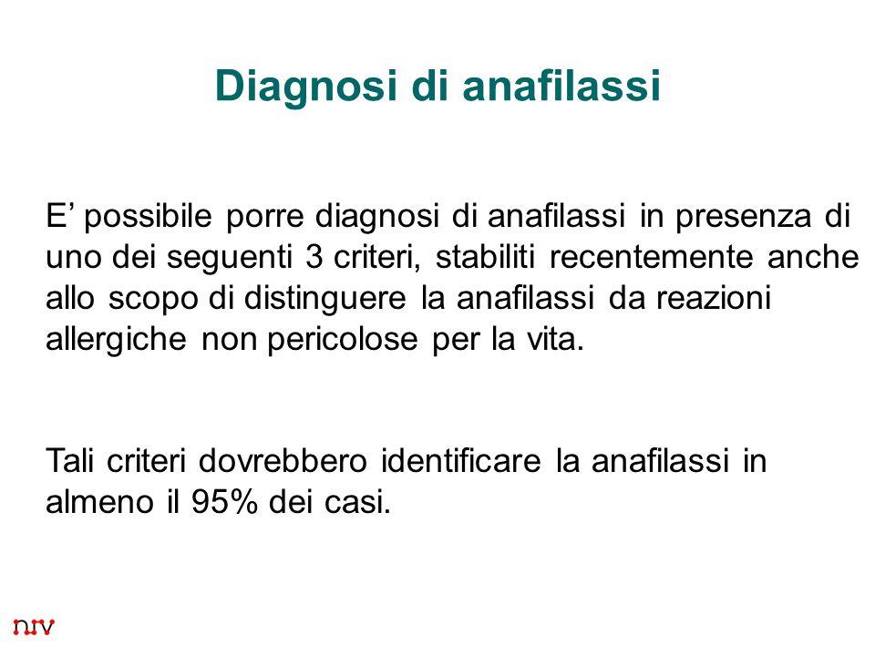 Diagnosi di anafilassi