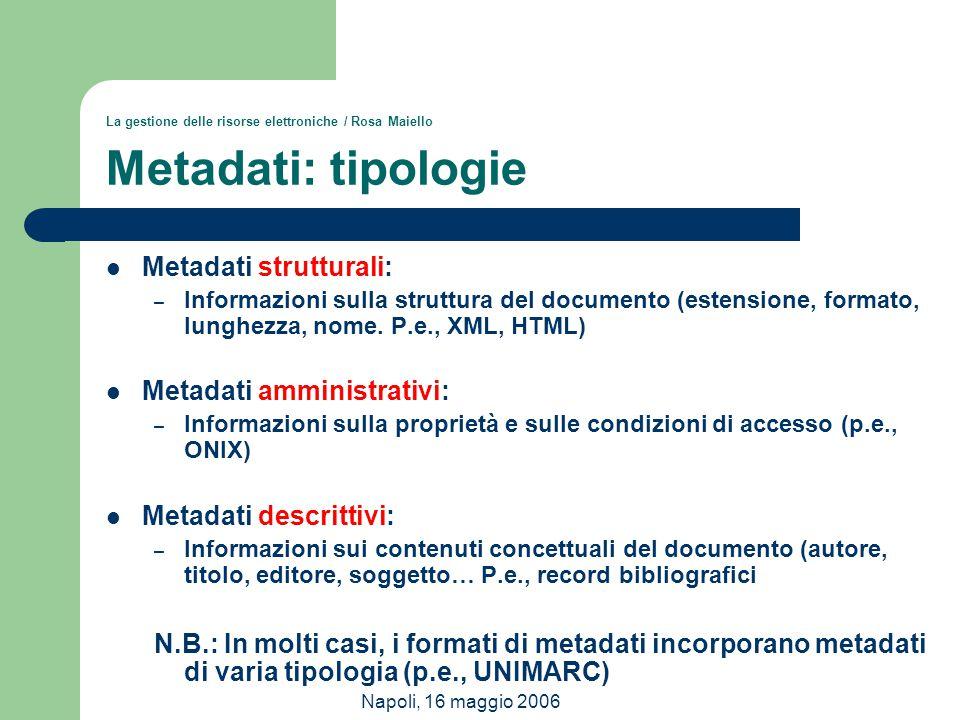 Metadati strutturali: