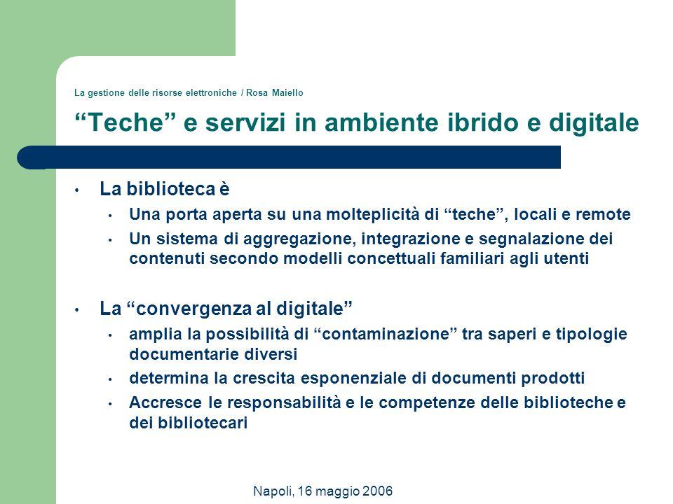 La convergenza al digitale