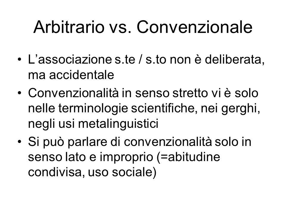 Arbitrario vs. Convenzionale