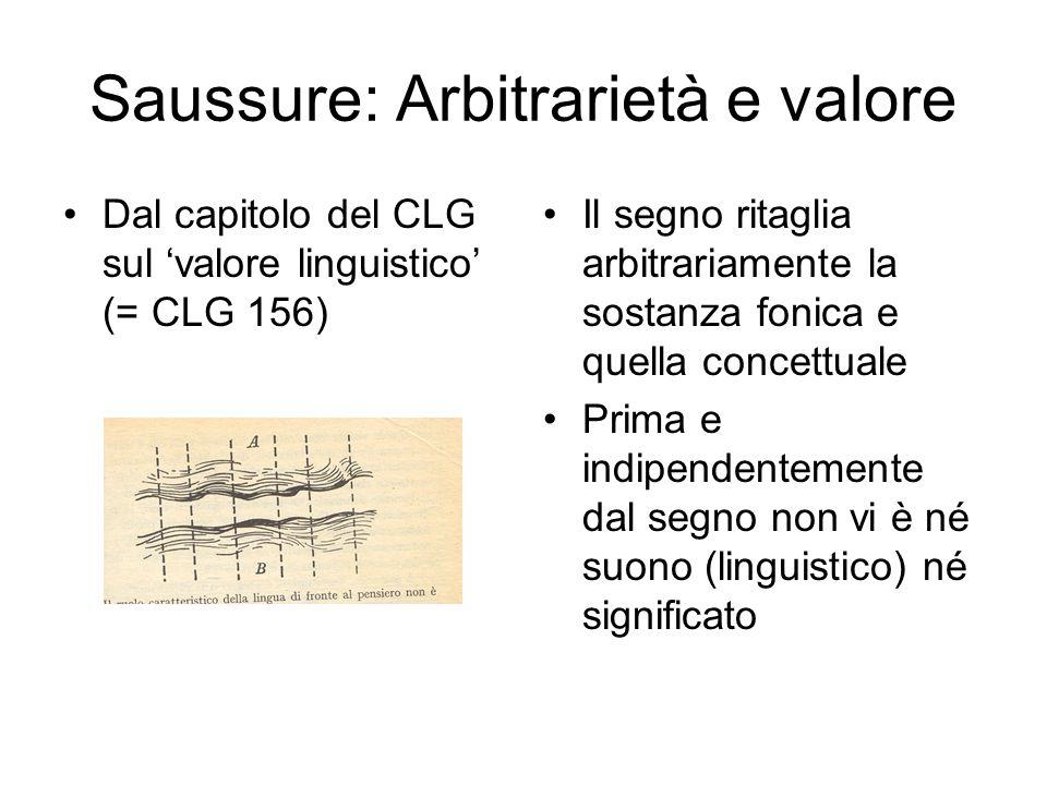 Saussure: Arbitrarietà e valore