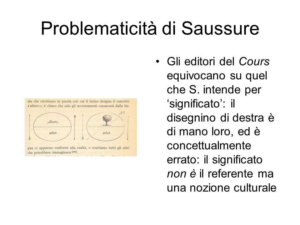 Problematicità di Saussure