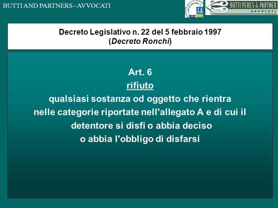 Decreto Legislativo n. 22 del 5 febbraio 1997 (Decreto Ronchi)