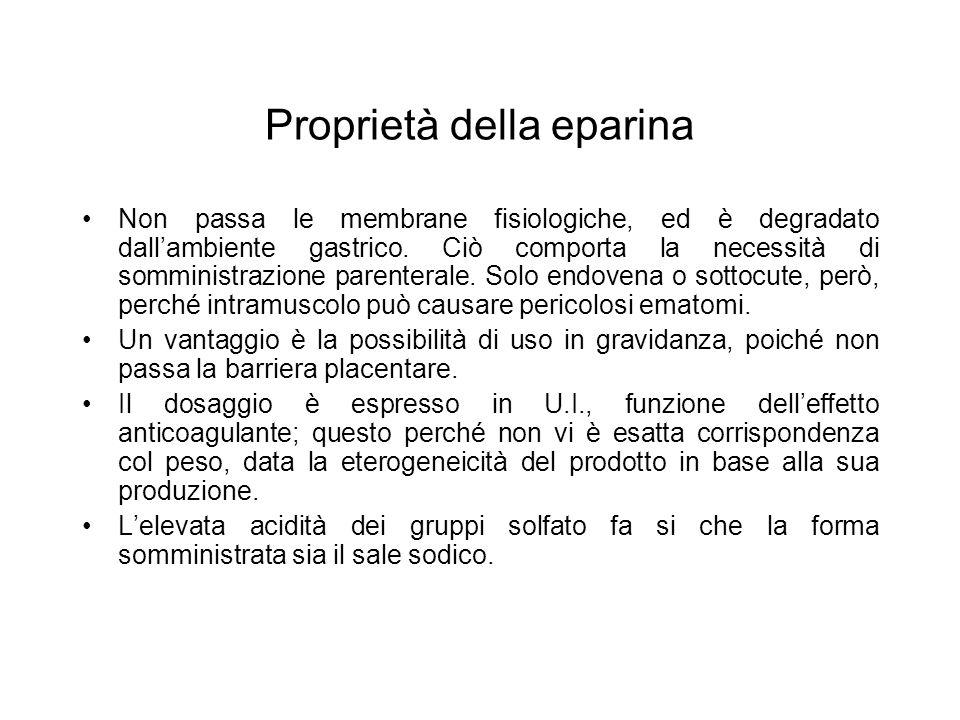 Proprietà della eparina