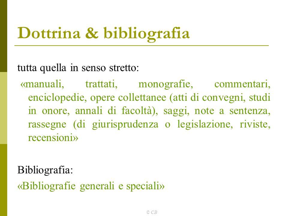 Dottrina & bibliografia