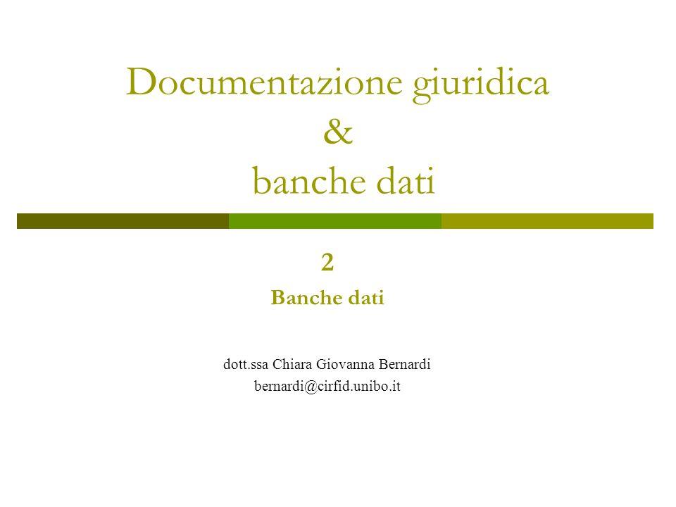 Documentazione giuridica & banche dati
