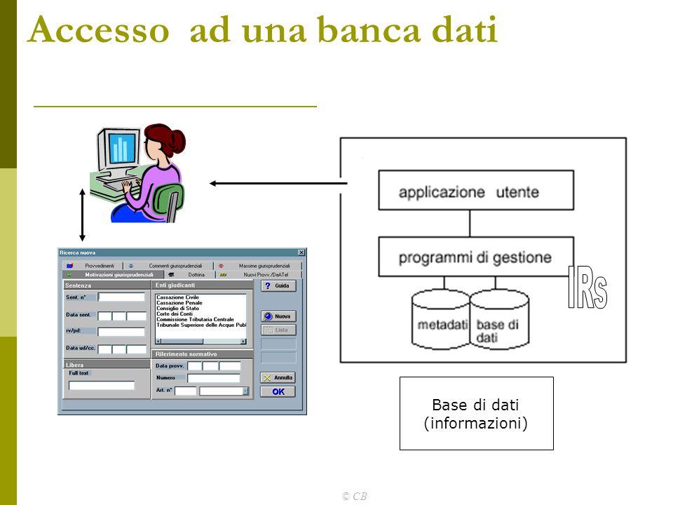 Accesso ad una banca dati