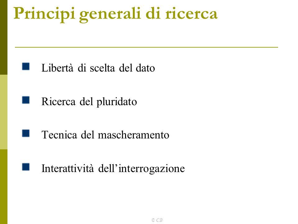 Principi generali di ricerca