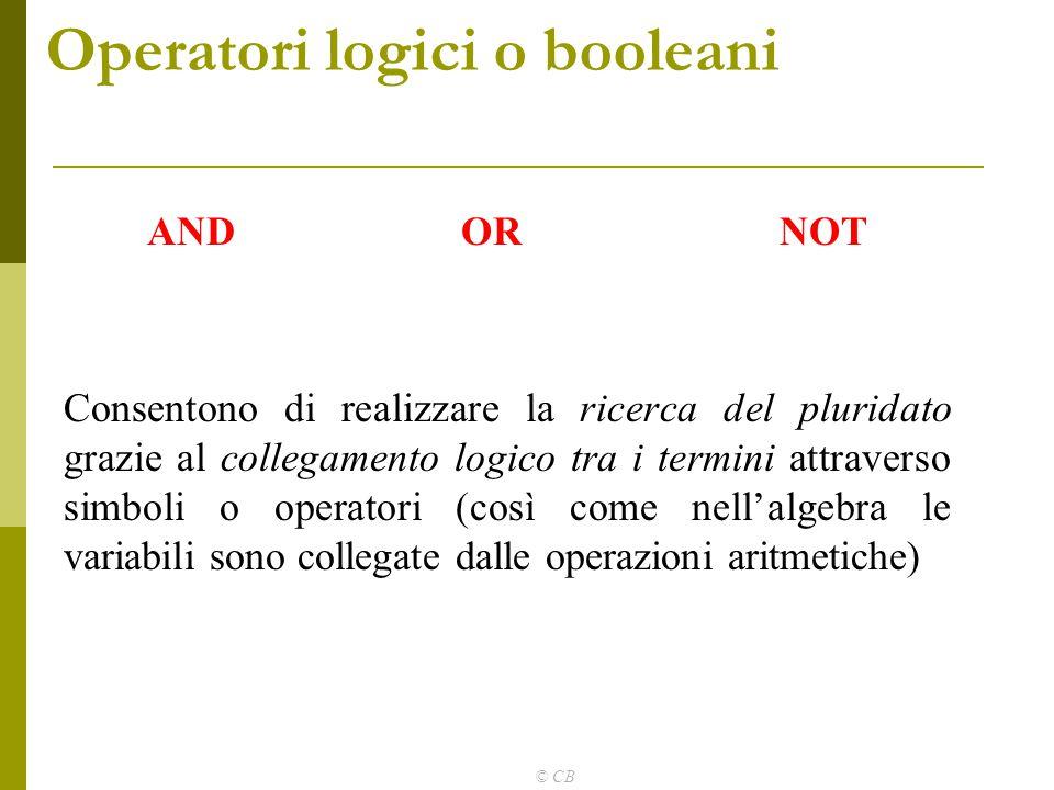 Operatori logici o booleani