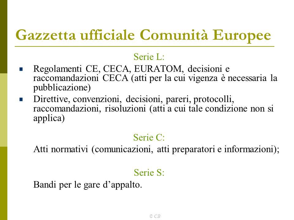 Gazzetta ufficiale Comunità Europee