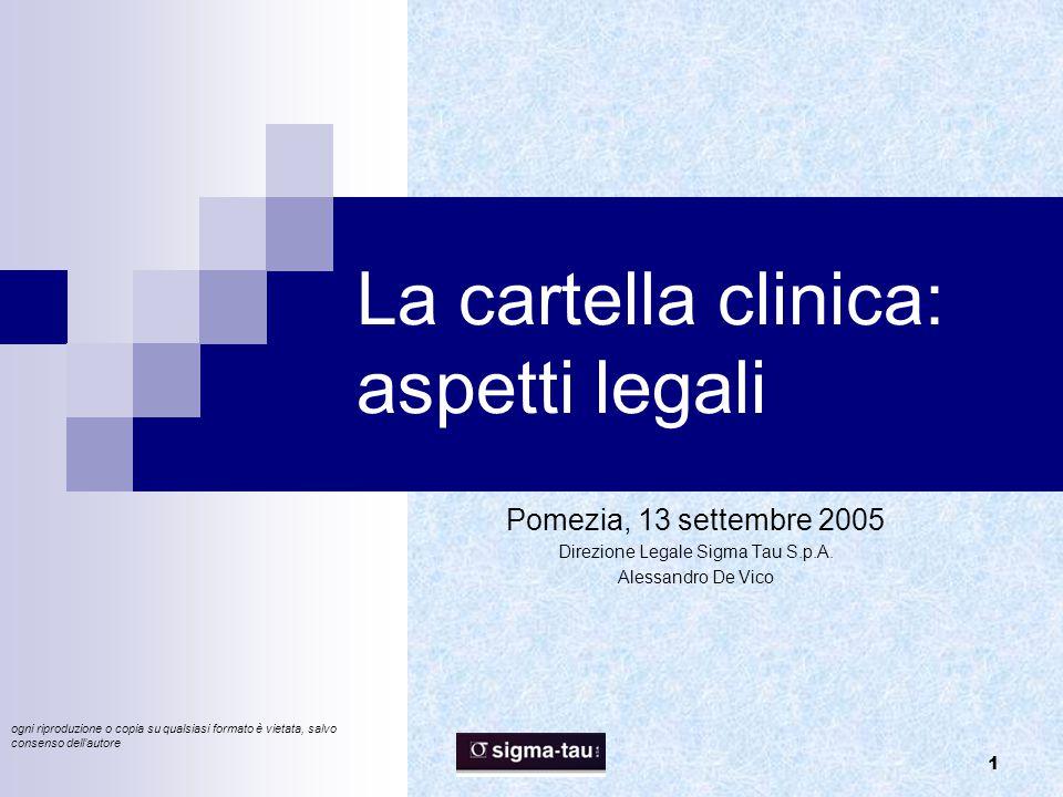 La cartella clinica: aspetti legali