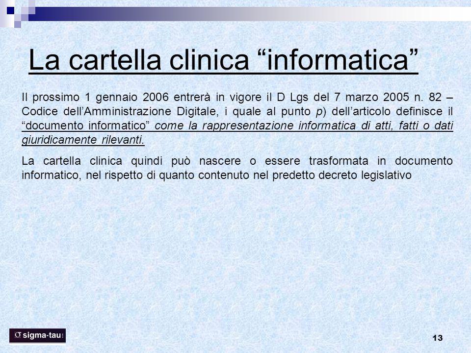 La cartella clinica informatica