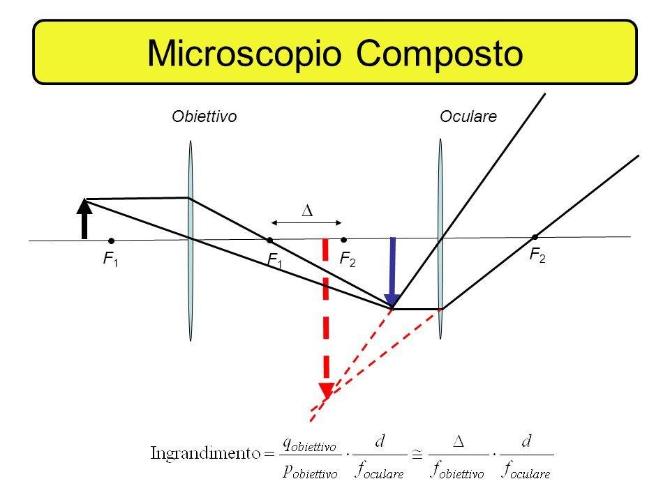 Microscopio Composto F1 F2 Obiettivo Oculare 