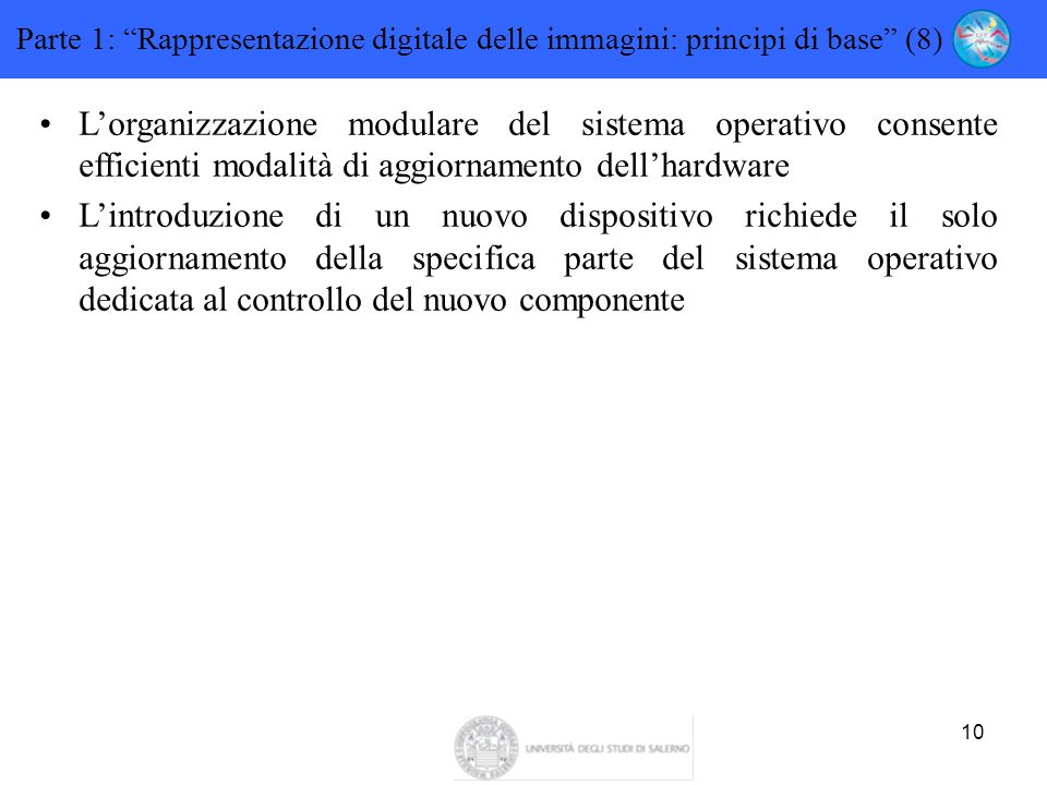 Parte 1: Rappresentazione digitale delle immagini: principi di base (8)