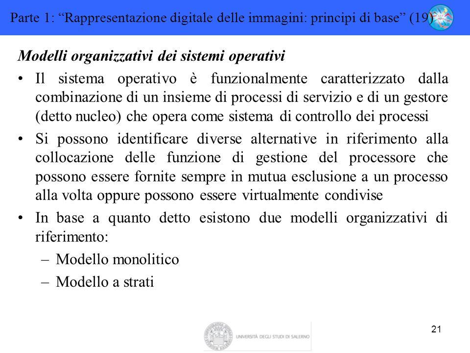 Modelli organizzativi dei sistemi operativi