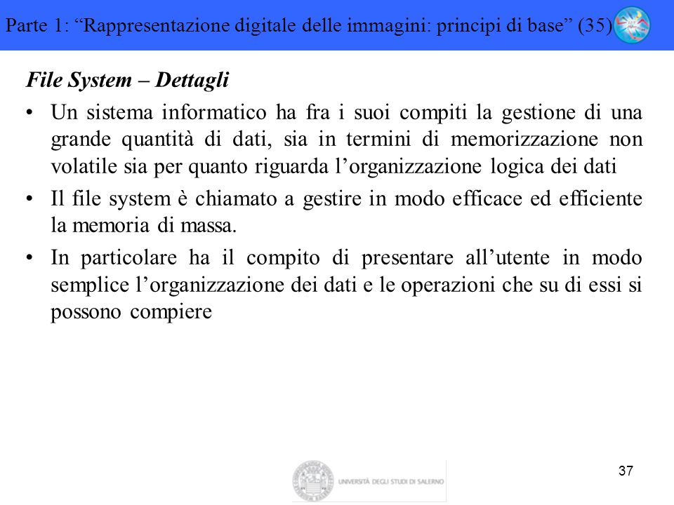 Parte 1: Rappresentazione digitale delle immagini: principi di base (35)