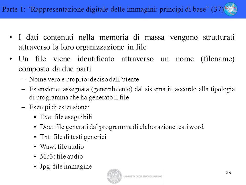 Parte 1: Rappresentazione digitale delle immagini: principi di base (37)