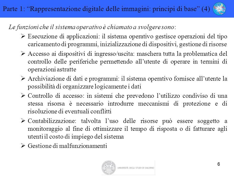 Parte 1: Rappresentazione digitale delle immagini: principi di base (4)