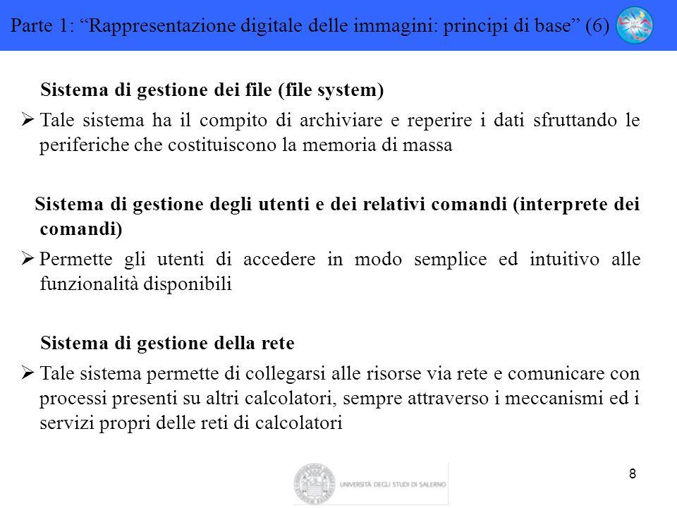 Parte 1: Rappresentazione digitale delle immagini: principi di base (6)