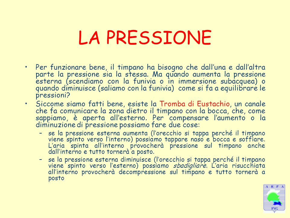 LA PRESSIONE